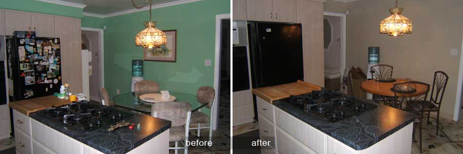 Impact of colour change in a kitchen